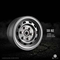 Cerchi SR02 1.9 Beadlock (Semigloss silver) - GMADE