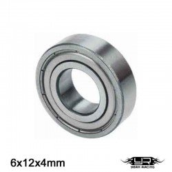 Cuscinetto a Sfera 6x12x4mm (S.Acciaio) - YEAH RACING YB6016MS