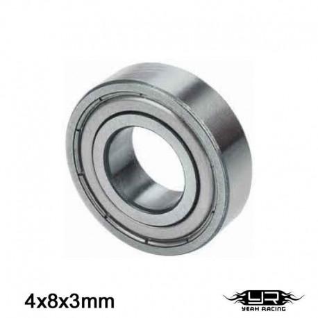 Cuscinetto a Sfera 4x8x3mm (S.Acciaio) - YEAH RACING YB6009MS
