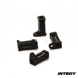 Attacchi Pedane sottoporta in Alluminio v1 per Axial SCX10 - INTEGY C24653BLACK