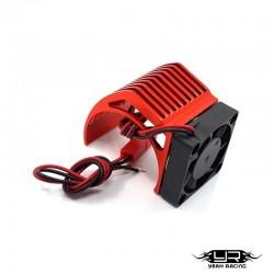 Dissipatore con Ventola v3 per Motori 540 (Rosso) - YEAH RACING YA-0411RD