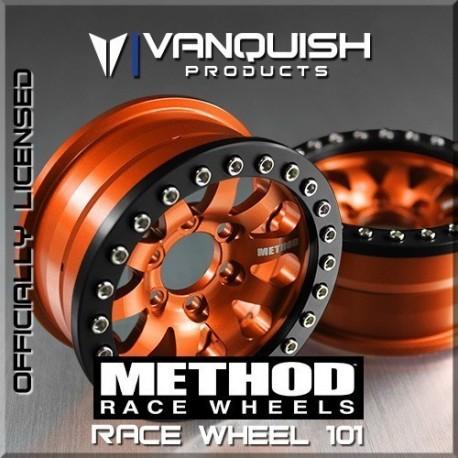 CERCHI METHOD 1.9 RACE WHEEL 101 ARANCIONE-NERO ANODIZZATO - Vanquish VPS06897