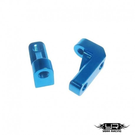 Supporti servo Blu - Yeah Racing SCX10-039BU