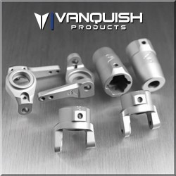 KIT BARRELS and C STEERING GRAY ANODIZED for AXIAL SCX10 - Vanquish
