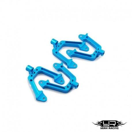 Supporti ammortizzatori Blu - Yeah Racing SCX10-008BU