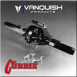 CURRIE ROCKJOCK SCX10 REAR AXLE ASSEMBLY BLACK ANODIZED - Vanquish