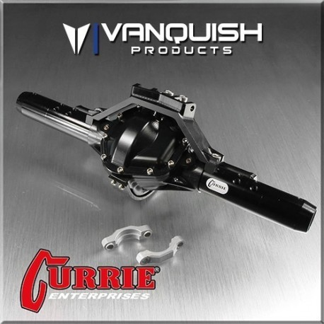 CURRIE ROCKJOCK SCX10 REAR AXLE ASSEMBLY BLACK ANODIZED - Vanquish VPS06602