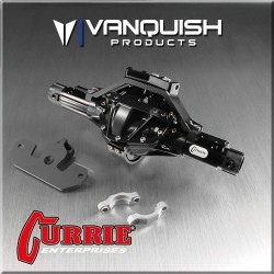 CURRIE ROCKJOCK SCX10 FRONT AXLE ASSEMBLY BLACK ANODIZED - Vanquish