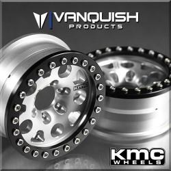 4 RIMS KMC 1.9 ENDURO XD222 GREY/BLACK ANODIZED - Vanquish
