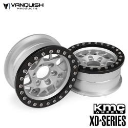 4 RIMS KMC 1.9 XD127 BULLY GREY/BLACK ANODIZED - Vanquish