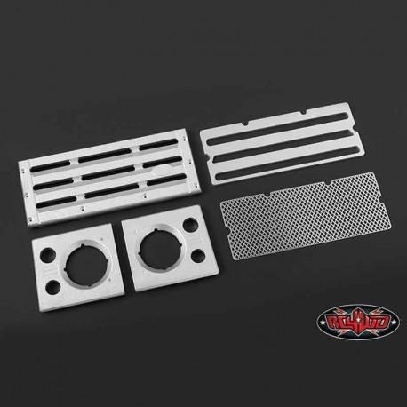 Set Griglia e Fari D90 in Alluminio - RC4WD Z-S1654