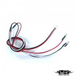 2 Led BIANCHI da 3mm v2Pin - Yeah Racing LK-0008WT