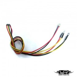 2 Led BIANCHI da 3mm v1 - Yeah Racing LK-0008YW