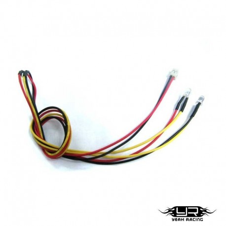 2 Led GIALLI da 3mm v2Pin - Yeah Racing LK-0008YW