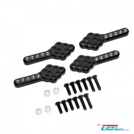 4 Supporti Ammortizzatori SCX10 - GPM SCX028M/2-BK