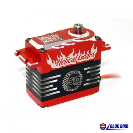 Servocomando in metallo High Voltage 57.5Kg - BLUE BIRD BLS-H50B
