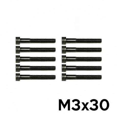 10 Viti a Brugola M3x30 Testa Cilindrica (NERE) - TM TM-VC3X30