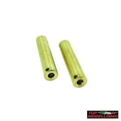 BEEF TUBES WEIGHTS for the Front in BRASS for Axial SCX10 - TM