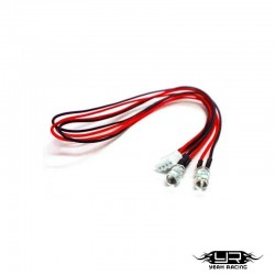 2 Led ROSSI da 5mm v4Pin - Yeah Racing LK-0004RD