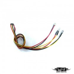 2 Led GIALLI da 5mm v4Pin - Yeah Racing LK-0004YW