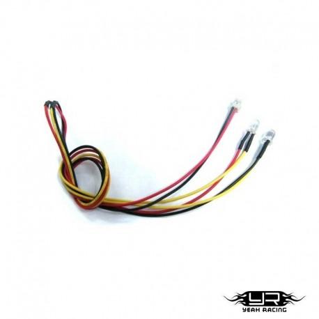 2 Led GIALLI da 5mm v4Pin - Yeah Racing LK-0004YW