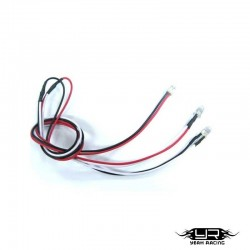 2 Led BIANCHI da 5mm v2Pin - Yeah Racing LK-0009WT