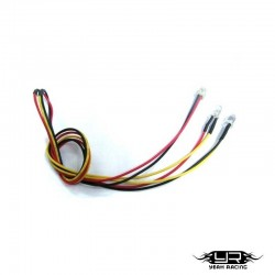 2 Led GIALLI da 5mm v2Pin - Yeah Racing LK-0009YW