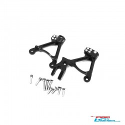 Shock towers FRONT. BLACK for AXIAL SCX-2 - GPM