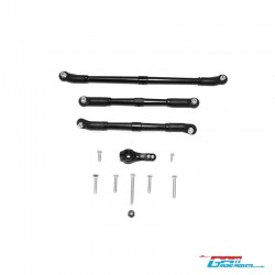 SET STEERING BLACK v1 for AXIAL SCX10-2 - GPM