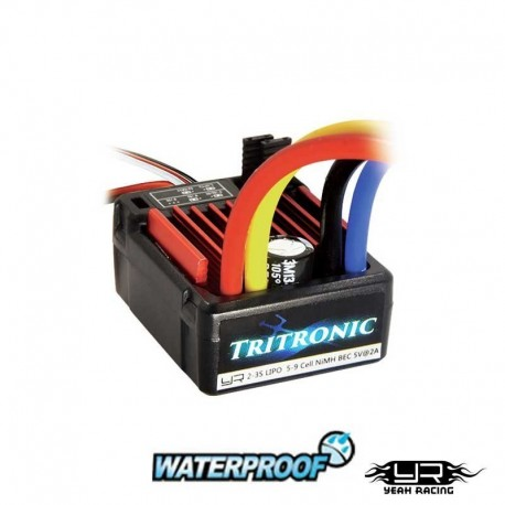 TRITRONIC Waterproof Brushed 60A ESC - YEAH RACING ESC-1060WP-YR