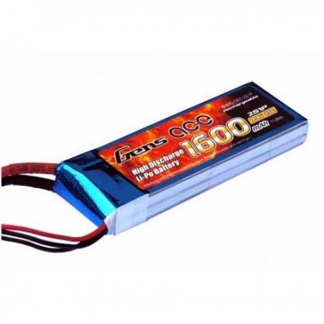 Batteria LiPo 1600mAh 7.4v 2s 40c - GENS ACE B-40C-1600-2S1P