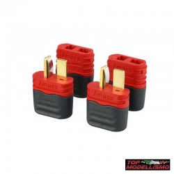 4 DEANS CONNECTORS MALE and FEMALE with REAR CAP - TM