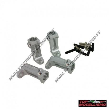 4 Attacchi Pedane Sottoporta in Alluminio per Axial SCX10 - TM TM-D031