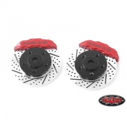 Torque Adapters Hexagon Disc with Red brake Calipers Jul 5 (Circles 1.9) - RC4WD