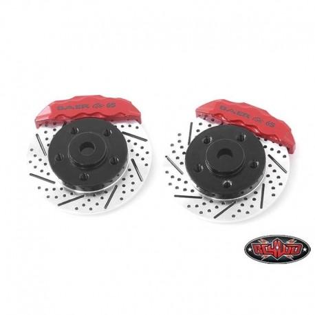 Coppia Adattatori Esagono a Disco con Pinze Rosse Lug 5 (Cerchi 1.9) - RC4WD Z-S1712