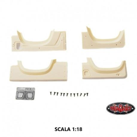 Set MODIFICA KHAN per Carrozzeria Defender D90 in Scala 1:18 - CCHand VVV-C0272