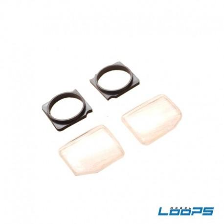 VETRI FANALI REALISTICI per Carrozzeria Mitsubishi Pajero - LooPS LPS-X007