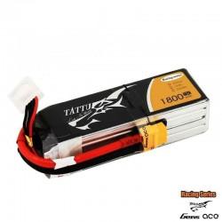 Batteria LiPo TATTU 1800mAh 14.8v 4s 75c RS - TATTU TA-75C-1800-4S1P-R