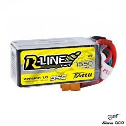 Batteria LiPo RLINE 1550mAh 14.8v 4s 95c - TATTU TA-RL-95C-1550-4S
