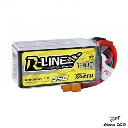 Batteria LiPo RLINE 1300mAh 14.8v 4s 95c - TATTU TA-RL-95C-1300-4S