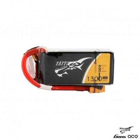 Batteria LiPo TATTU 1300mAh 11.1v 3s 75c - TATTU TA-75C-1300-3S1P