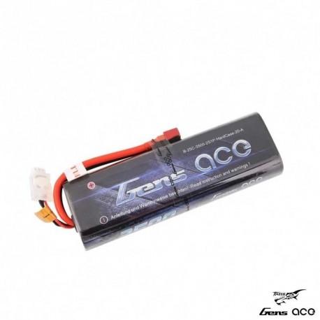 Batteria LiPo 3500mAh 7.4v 2s 25c (STICK PACK) HARDCASE - GENS ACE B-25C-3500-2S1P-HARDCASaE-20-A