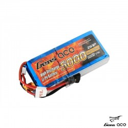 LiPo battery 5000mAh 7.4 v 2s (RX/TX) - GENS ACE