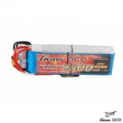 Batteria LiPo 2600mAh 7.4v 2s (RX) per SANWA e FUTABA - GENS ACE B-RX-2600-2S1P