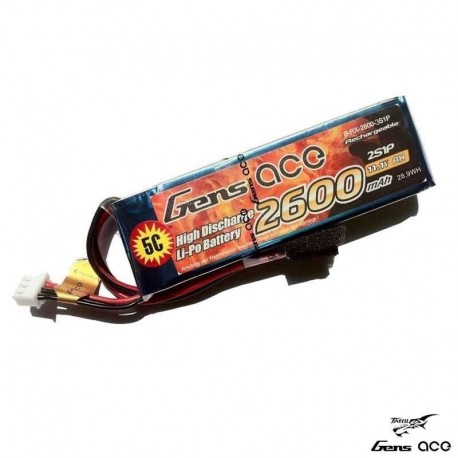 Batteria LiPo 2600mAh 11.1v 3s 5C (TX) - GENS ACE B-TX-2600-3S1P