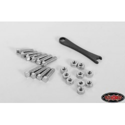 KIT Bulloni e Dadi In Scala Testa Esagonale M1x4mm ARGENTO - RC4WD