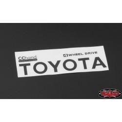 Emblema Adesivo NERO per Toyota Hilux, Mojave e C70 - CChand