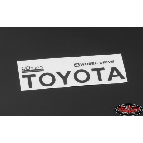 Emblema Adesivo NERO per Toyota Hilux, Mojave e C70 - CChand VVV-C0292