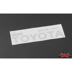 Emblema Adesivo BIANCO per Toyota Hilux, Mojave e C70 - CChand