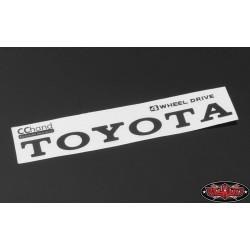 Emblema VINTAGE Adesivo NERO per Toyota Hilux, Mojave e C70 - CChand